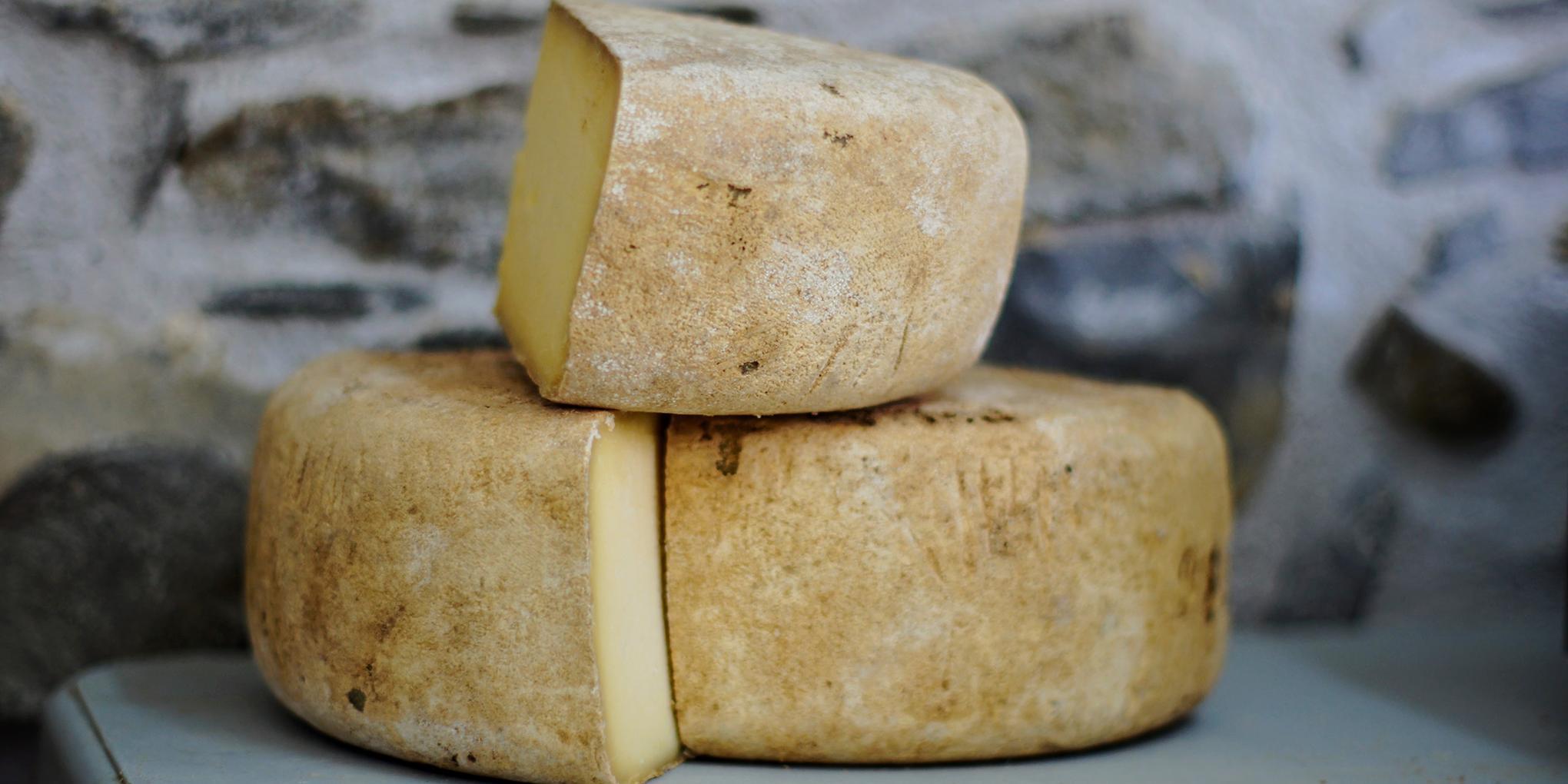 Kaas van een lokale producent in de Ardennen