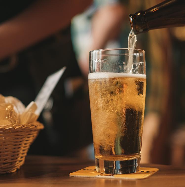 Bier van lokale producent in Ardennen