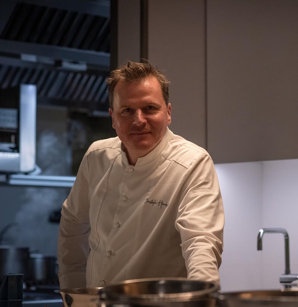 Christophe Hardiquest in zijn keuken