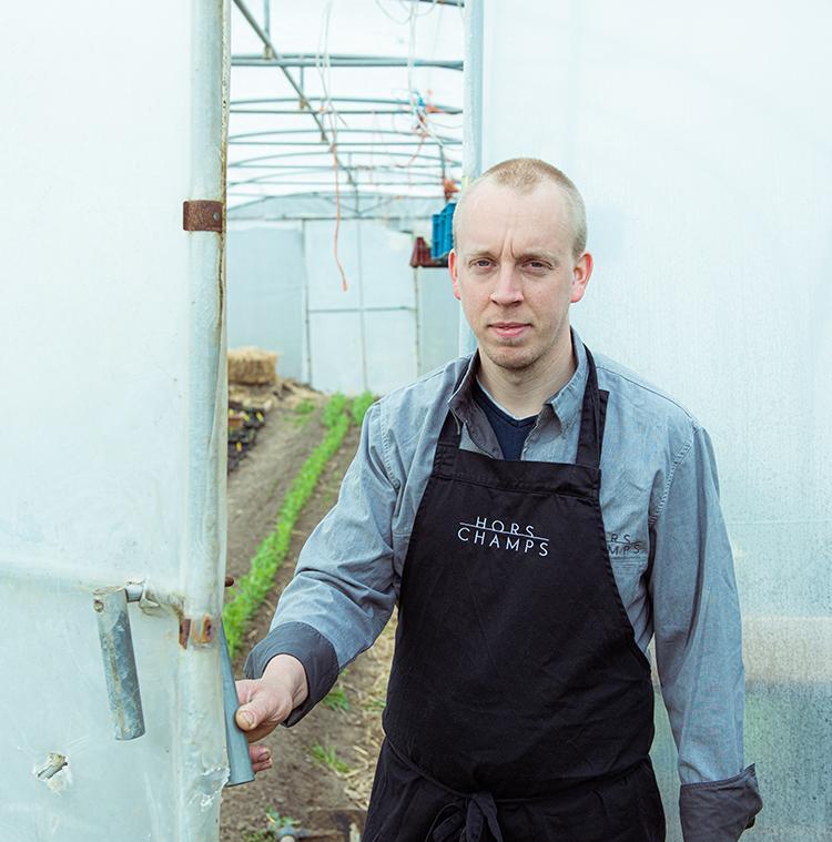 Chef Stefan Jacobs opent de deur van zijn moestuin voor ons