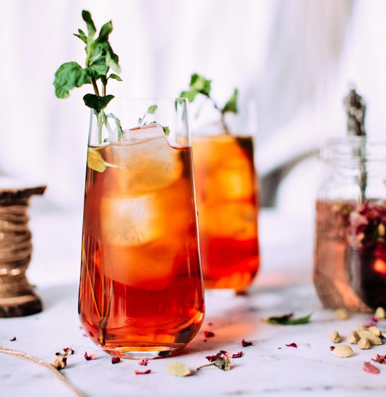 Cocktail zonder alcohol met bruiswater